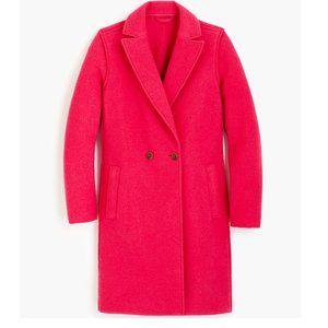 J. Crew Daphne Topcoat Pink Wool 0 XS NWT